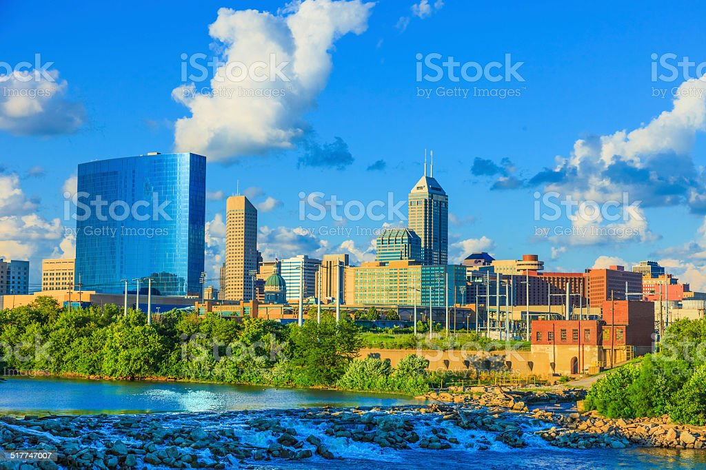 Indianapolis skyline, Indiana stock photo