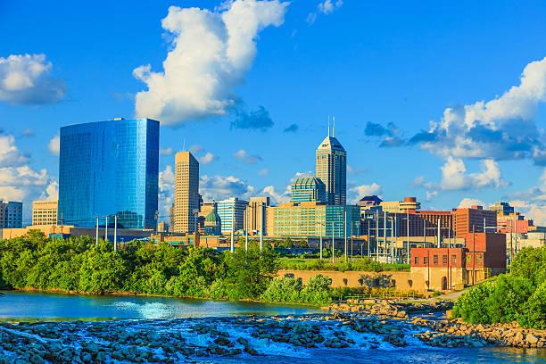 Indianapolis skyline, Indiana stock photo