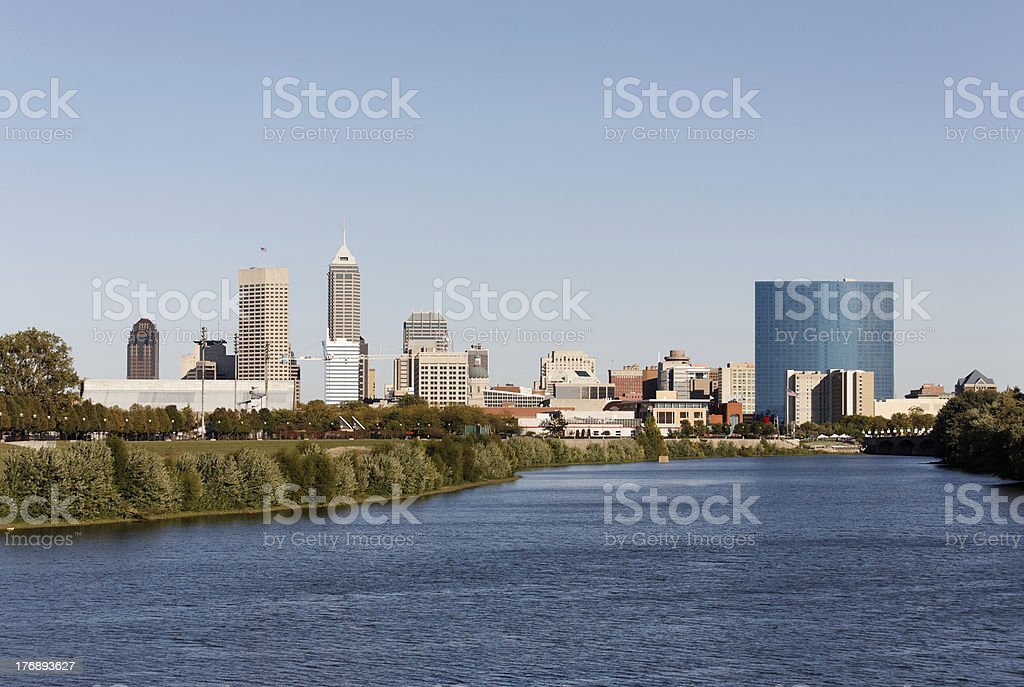 Indianapolis Skyline stock photo