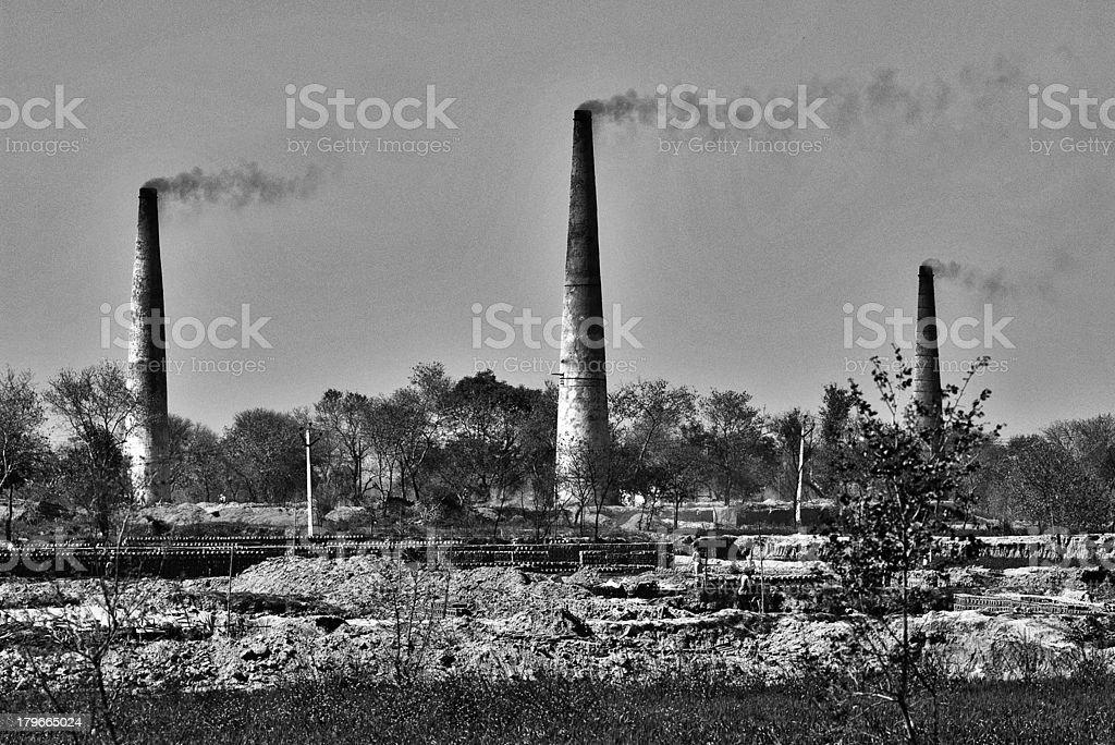 India's brick kilns royalty-free stock photo