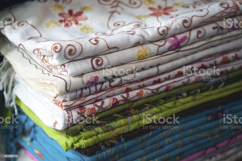 india's fabrics royalty-free stock photo