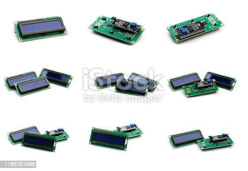 LCD indicator isolated on white background - Image