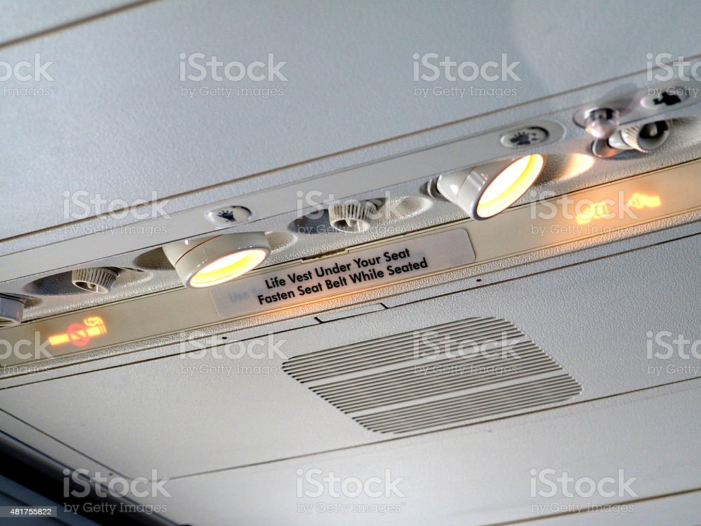 Indicator Panels on Passenger Airliner stock photo