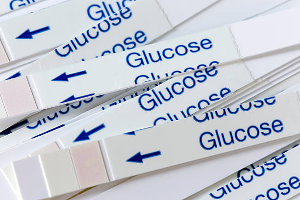 Indicator Strips For Blood Glucose Testing stock photo