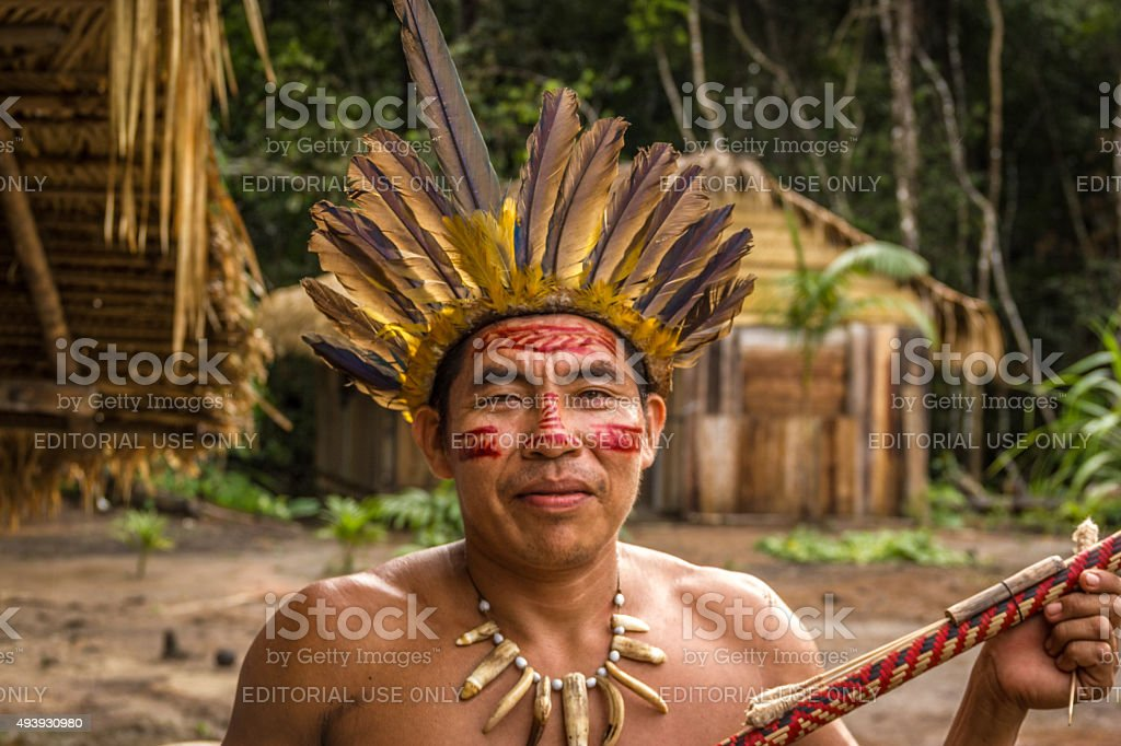 Indigenous from the Dessana tribe stock photo
