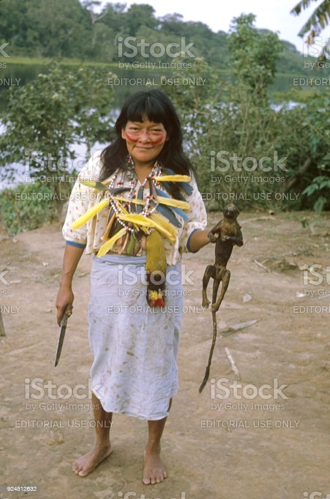 Indigenous people, Amazonia stock photo
