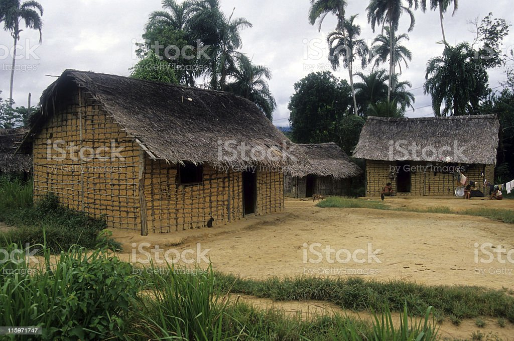 Indigenous village royalty-free stock photo