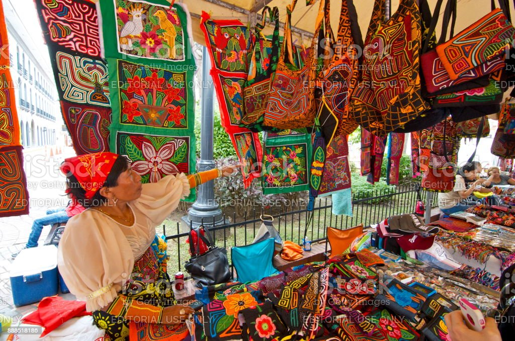 In Panama City, Panama, there are many native people who sells their...