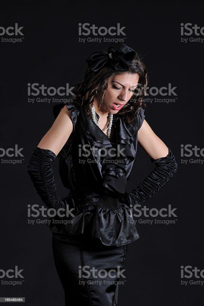 Indignant woman royalty-free stock photo