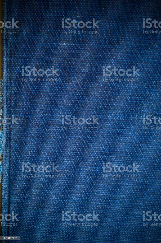 Indigo Blue Linen Texture From Vintage Book Cover For Background ...