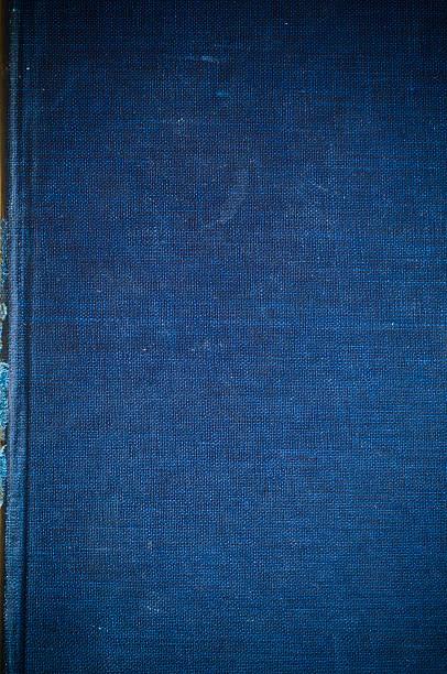 Blu indaco tessuto di lino vintage copertina per sfondo - foto stock