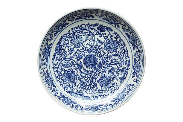 indigo china ware - porcelana - fotografias e filmes do acervo