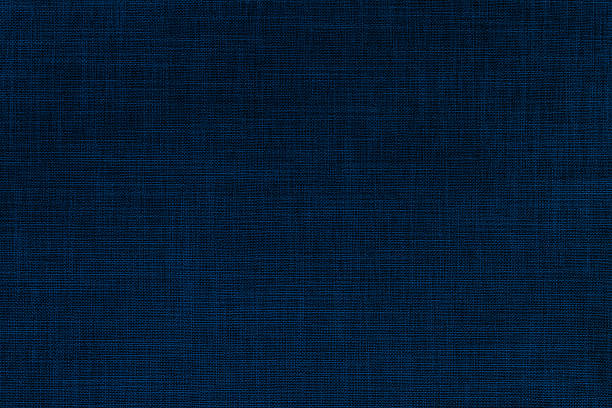 Indigo color nature woven texture background - foto stock