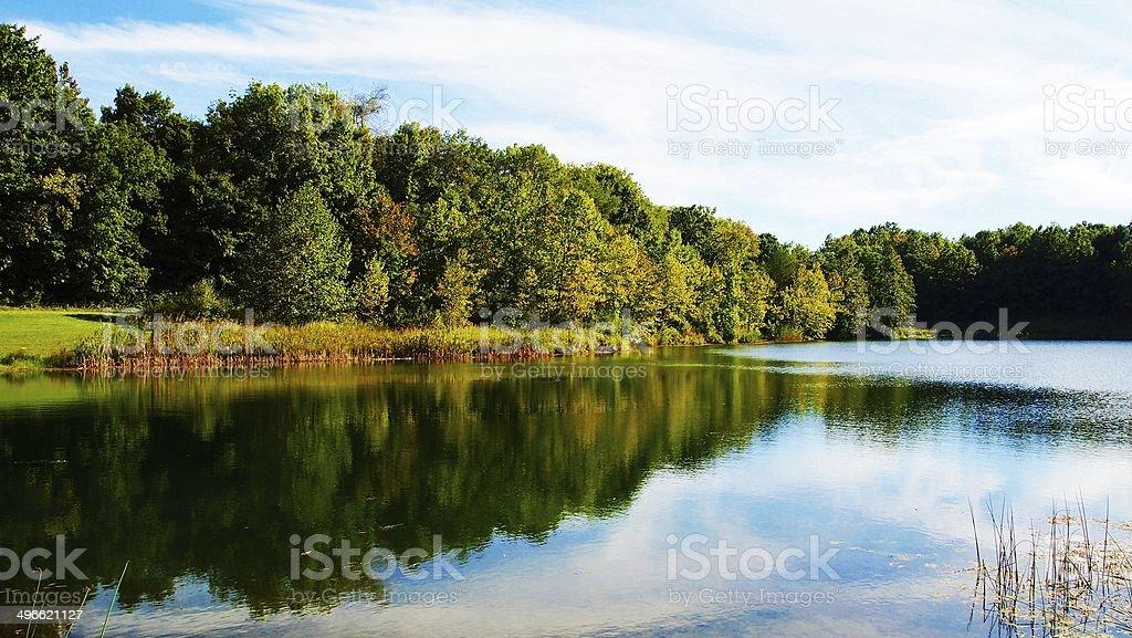 Indigo Lake stock photo