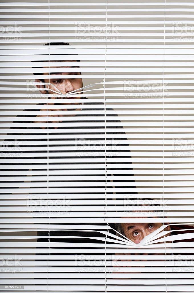 Indiscreet people. royalty-free stock photo