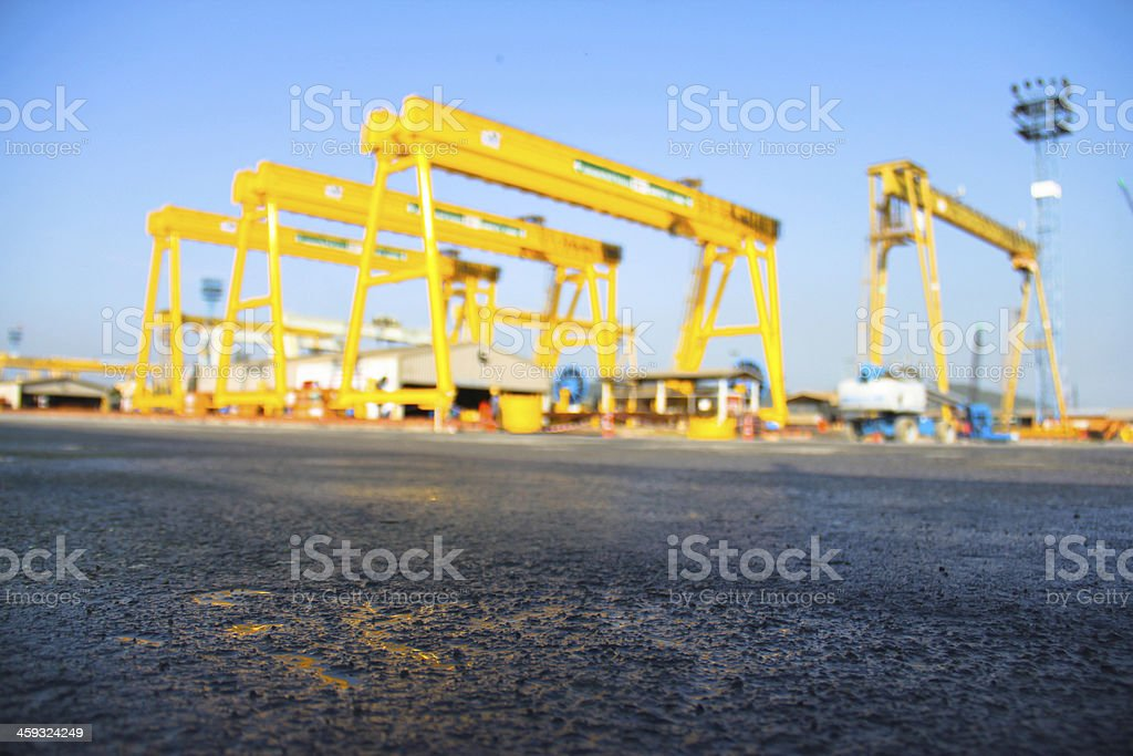 indistry crane blur stock photo