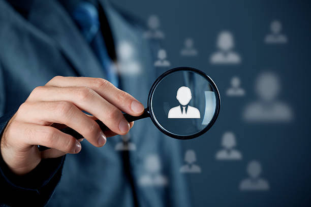 Individual customer service and CRM stock photo