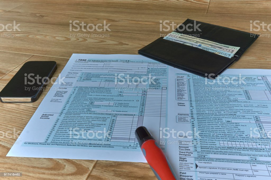1040 Individual Income Form stock photo