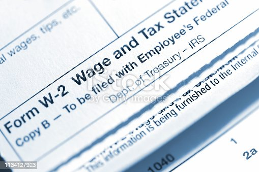 Form W-2 - Wage and Tax Statement. To be filed with employees Federal Tax Return.