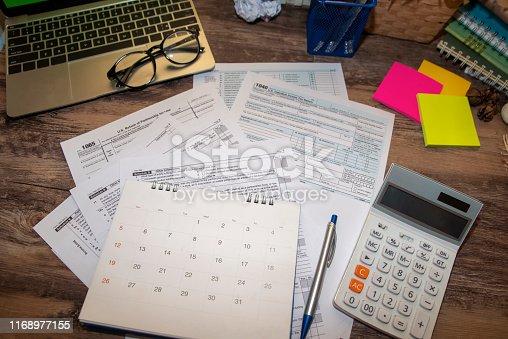 istock Individual Income Tax 1168977155