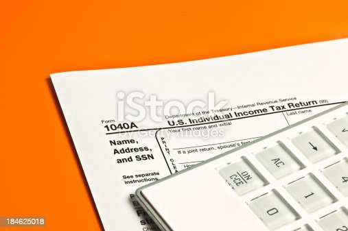 istock US Individual Income Tax Teturn Form 1040A 184625018