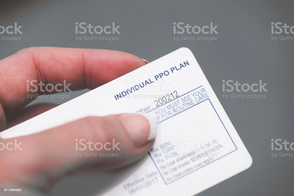 Individual PPO Plan stock photo
