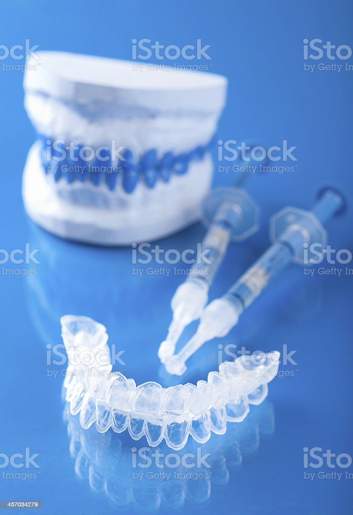 individual set for teeth whitening stock photo