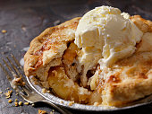 Individual Size Apple Pie with Vanilla Ice Cream
