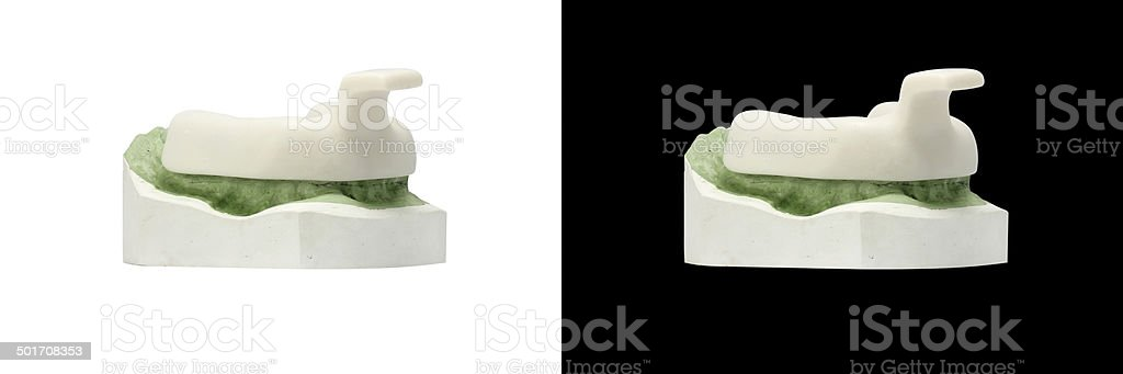 Individual tray for Dental Impression stock photo