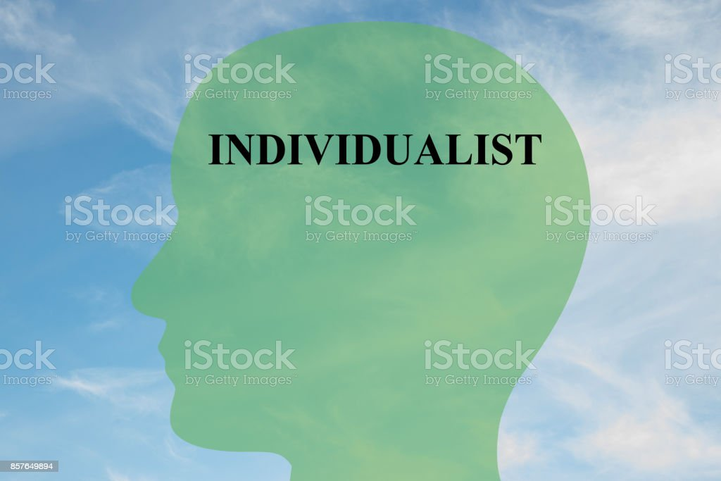 Individualist mentality concept stock photo