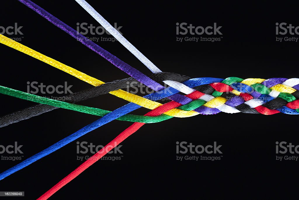 Individuals Joining Together As Family, Union, Team or Network royalty-free stock photo