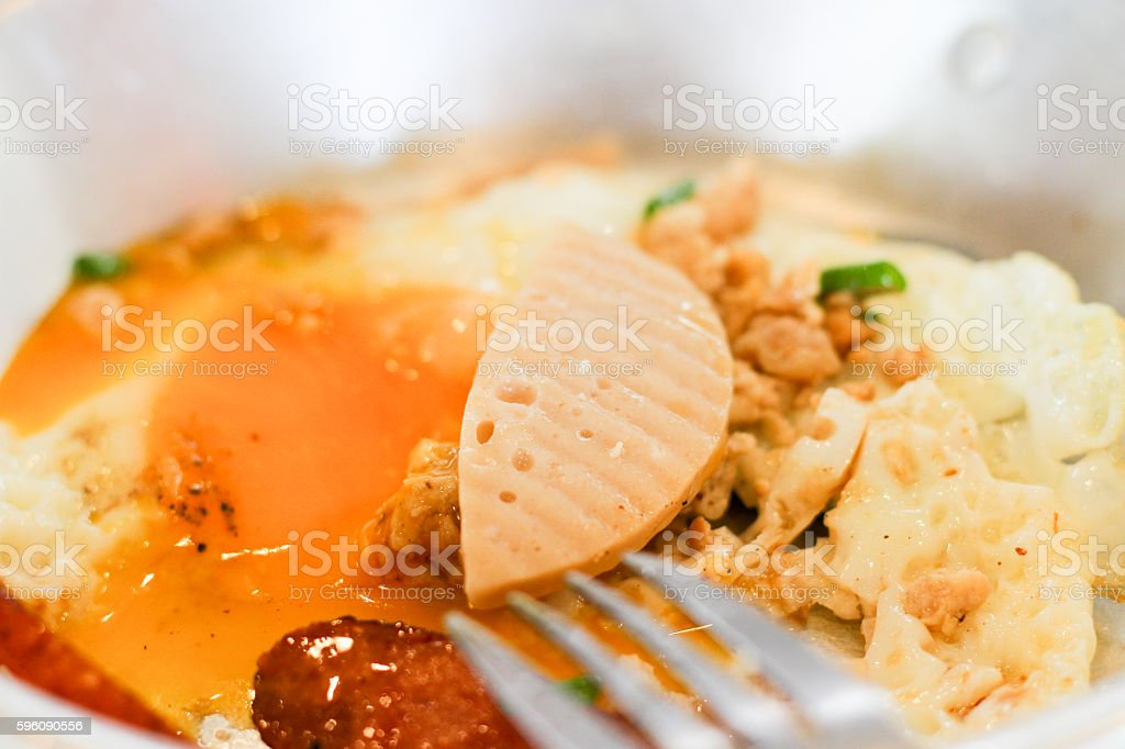 Indochina pan-fried egg with toppings Thai style royalty-free stock photo