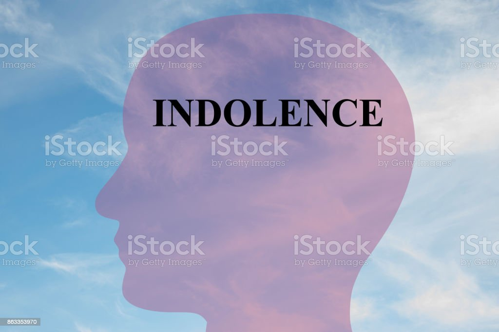 Indolence mentality concept stock photo