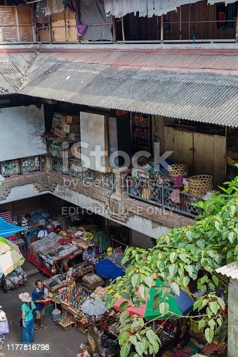 Indonesia Bali, Sept 20 2019, Famous Market in Ubud, Located in Centre