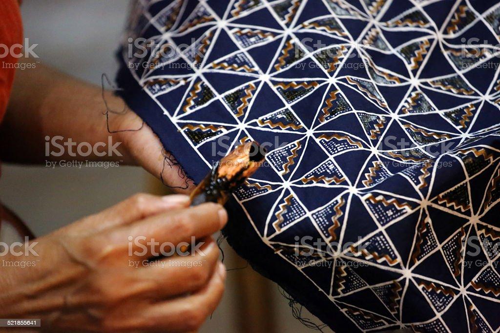 Indonesia: Batik Making in Yogyakarta stock photo