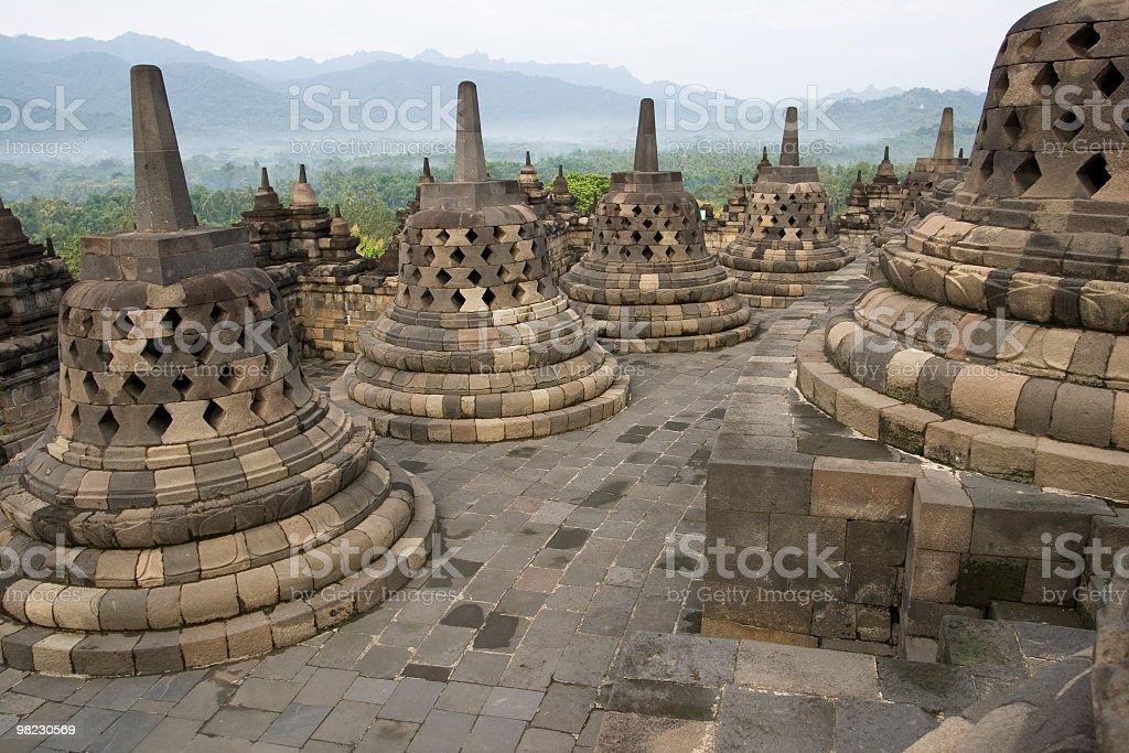 Indonesia - Borobudur temple at sunset royalty-free stock photo