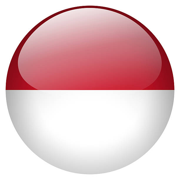 indonésia botão - bandeira da indonesia - fotografias e filmes do acervo