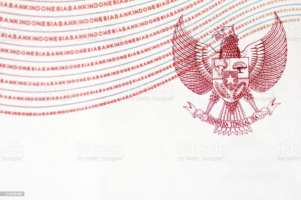 Indonesia Coat of Arms royalty-free stock photo