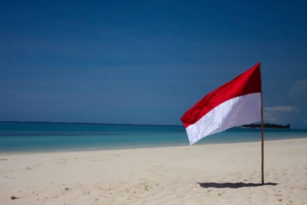 bandeira de indonésia - bandeira da indonesia - fotografias e filmes do acervo