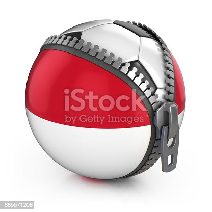 istock Indonesia football nation 3d isolated illustration 885571208
