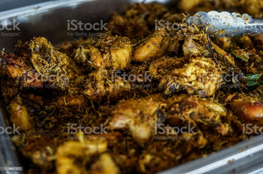 Indonesia Fried Chicken stock photo