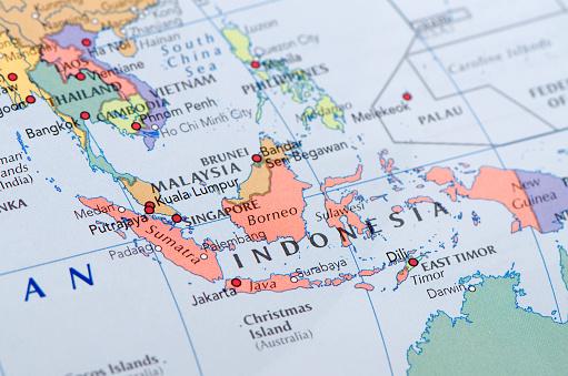 Foto de Indonésia Mapa e mais fotos de stock de Ampliação