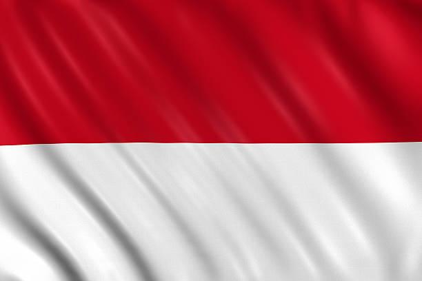 indonésia, mônaco, bandeira de hesse - bandeira da indonesia - fotografias e filmes do acervo