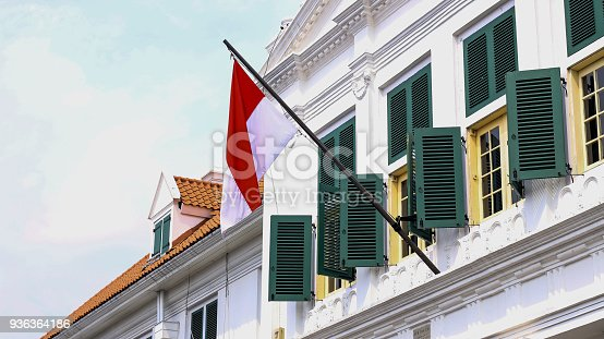 istock Indonesia National Flag 936364186