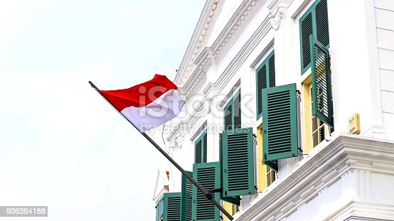 istock Indonesia National Flag 936364188