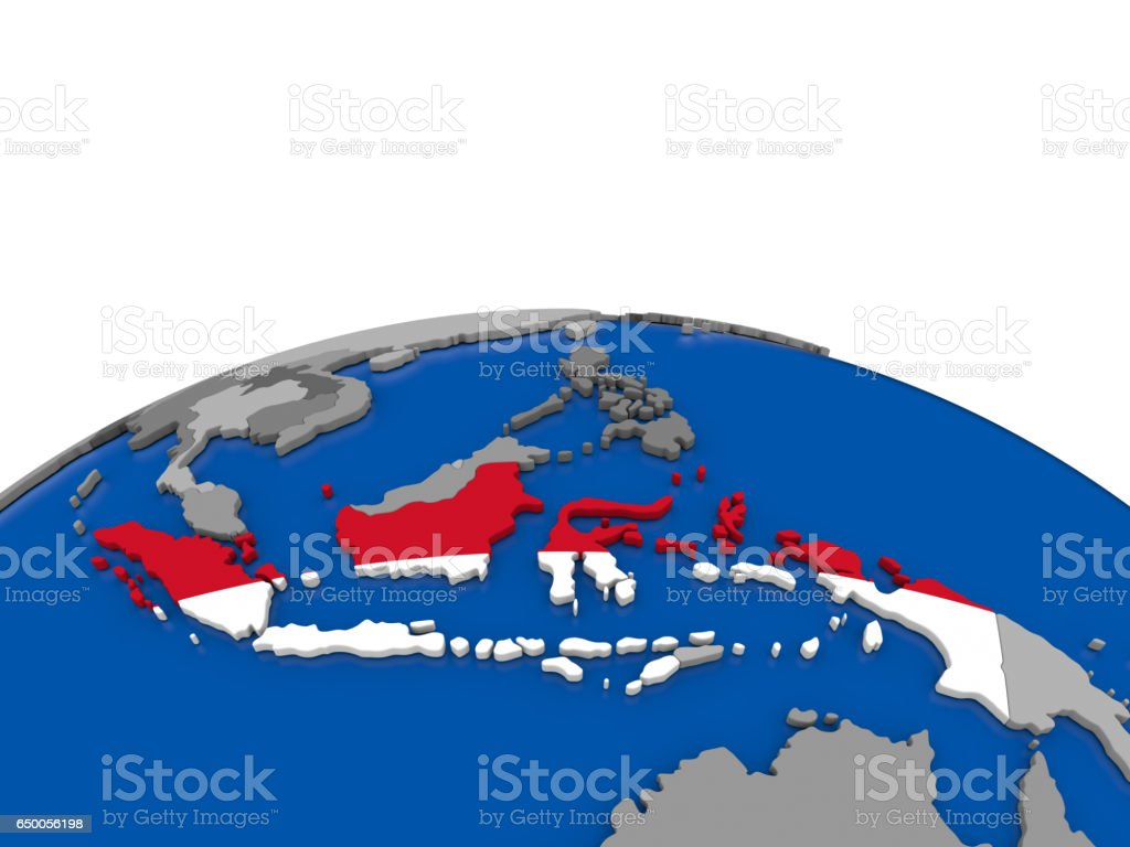 Indonesia On 3d Globe Stock Photo - Download Image Now - iStock on vector map indonesia, tv indonesia, travel map indonesia, satellite indonesia, map with physical features of indonesia,