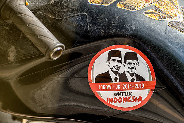 Indonesia Presidential Election Sticker stock photo