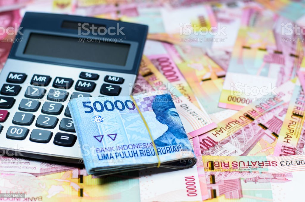 Indonesia Rupiah currency banknotes stock photo