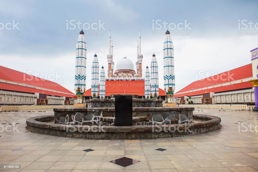 Indonesia Semarang Masjid Agung Mosque Stock Photo Download