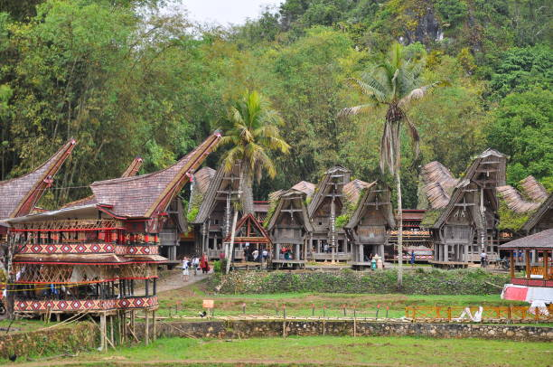 Indonesien, Sulawesi, Tana Toraja, Traditionelles Dorf – Foto